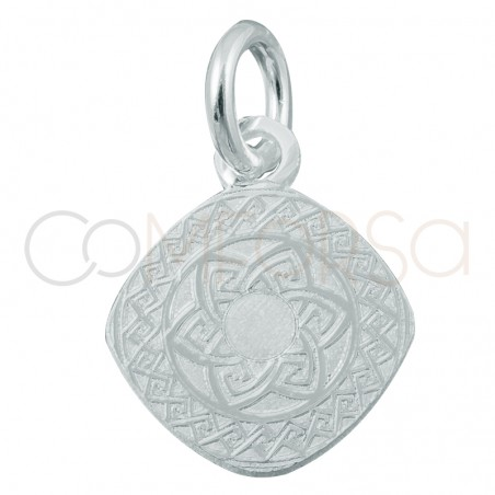 Sterling silver 925 Aztec pendant 10mm
