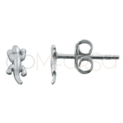 Sterling silver 925 gold-plated salamander earring 7x4.5mm