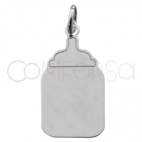 Sterling silver 925 baby bottle pendant 11x20mm