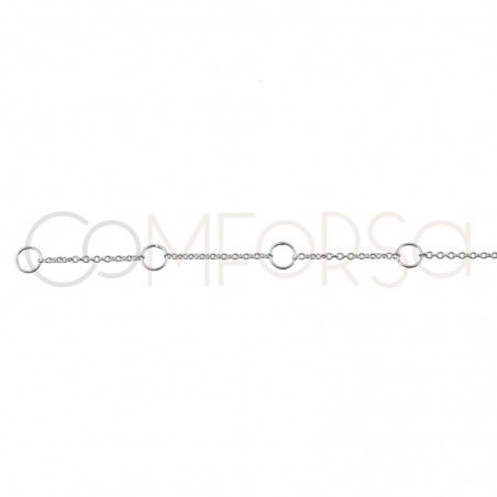 Sterling silver 925 initials choker 38 + 6cm