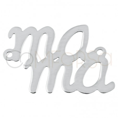 Sterling silver 925 gold-plated mama connector 14x20mm