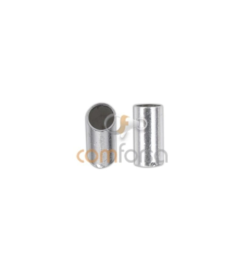 Sterling silver 925 tube end for gluing 2 x 6 mm