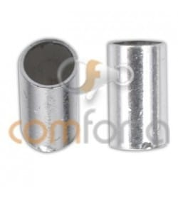 Sterling silver 925 tube end for gluing 2.5 x 6 mm