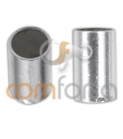 Sterling silver 925 tube end for gluing 3 x 6 mm