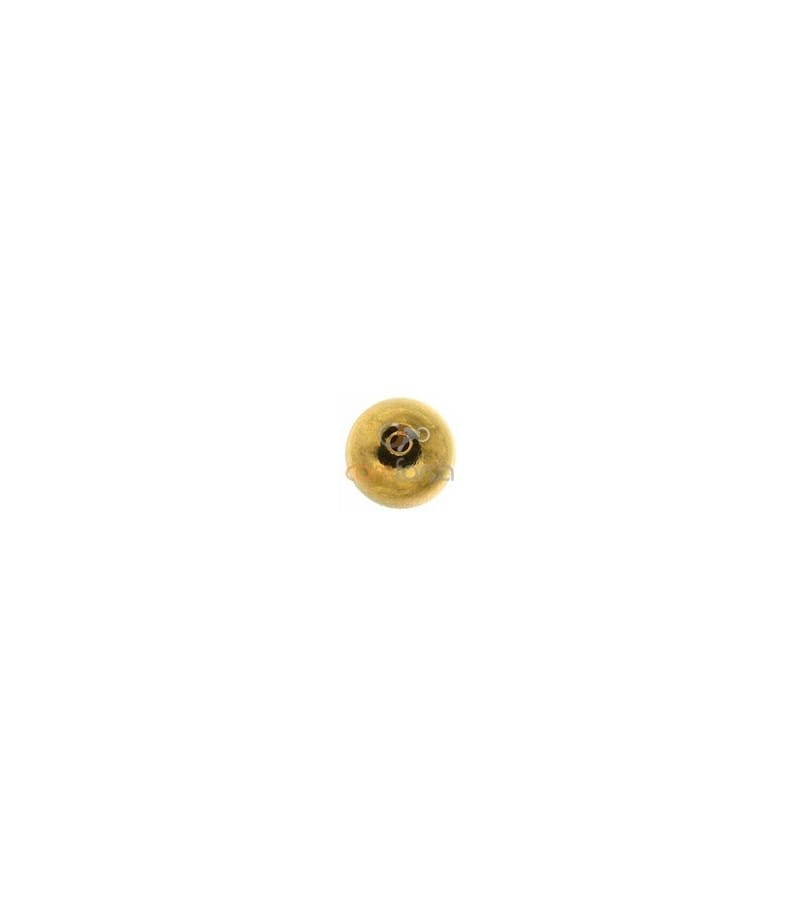 18kt Yellow gold round bead  4 mm