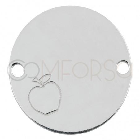 Entrepieza manzana 20 mm plata 925
