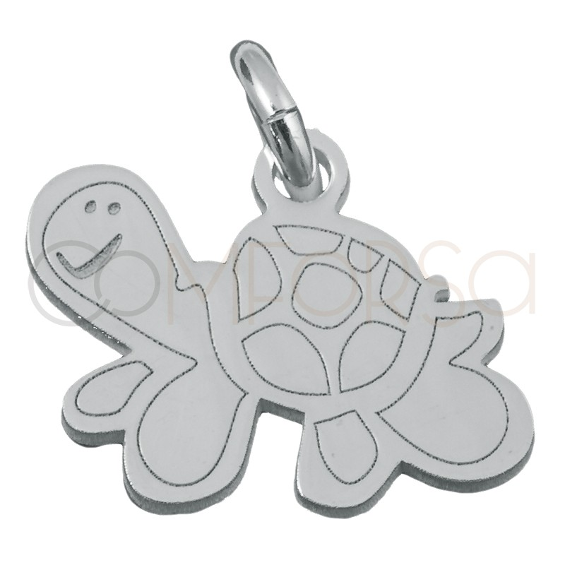 Sterling silver 925 turtle pendant 12.5x9mm