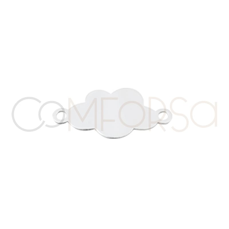 copy of Sterling silver 925 cloud metal sheet connector 14 mm