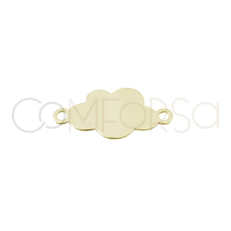copy of Gold plated silver cloud plate connector 14 mm