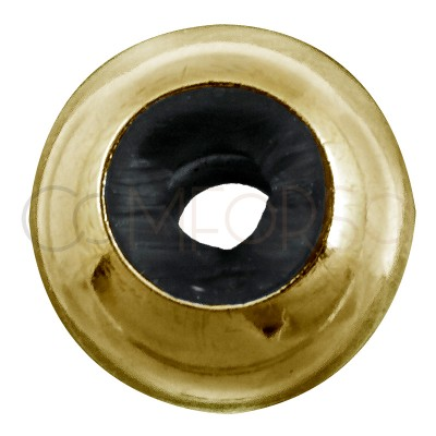Sterling silver 925 gold-plated bead 8mm (4.5mm)