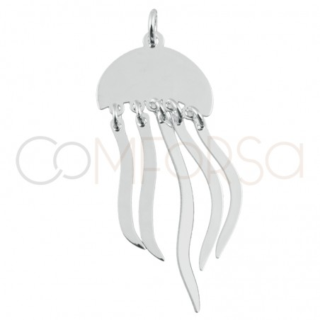 Sterling silver 925 gold-plated jellyfish pendant 15 x 10mm
