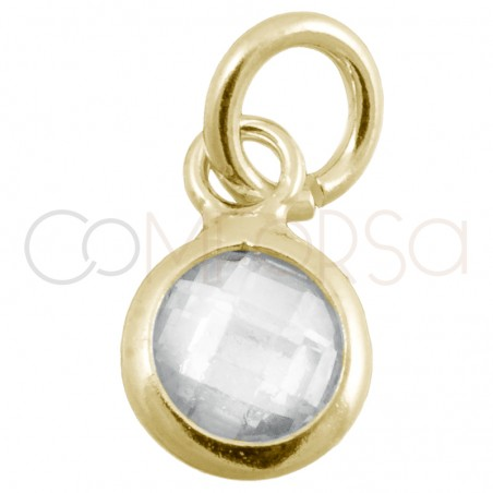 Colgante mini circonita cristal 4.5mm plata 925