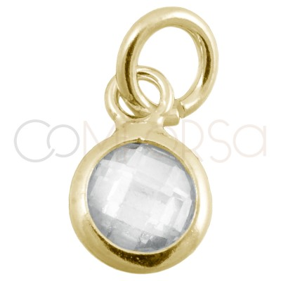 Sterling silver 925 gold-plated mini zirconia pendant crystal 4.5mm