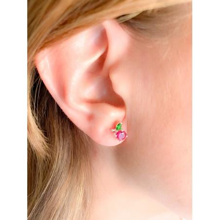 Sterling silver 925 cherry earrings 6.5x7.5mm