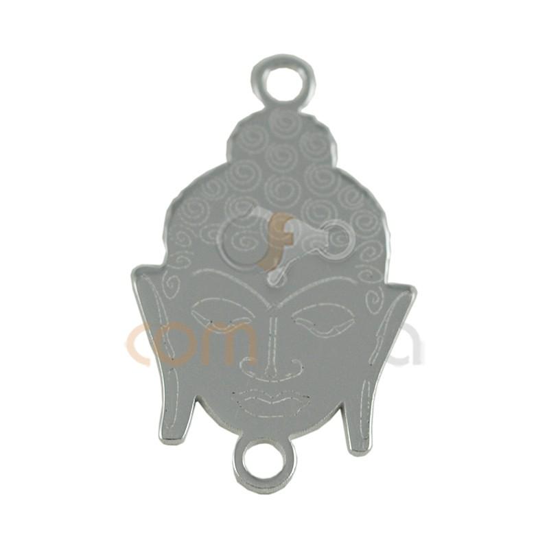 Entrepieza cabeza de Budha 18 x 11 mm plata 925