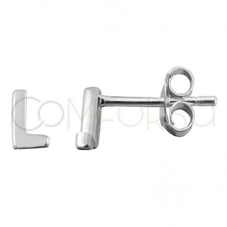 Sterling silver 925 letter L earrings