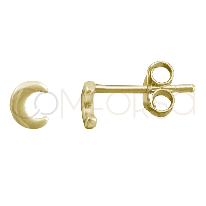 Sterling silver 925 gold-plated letter C earrings