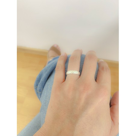 Sterling silver 925 serpent texture ring 5mm