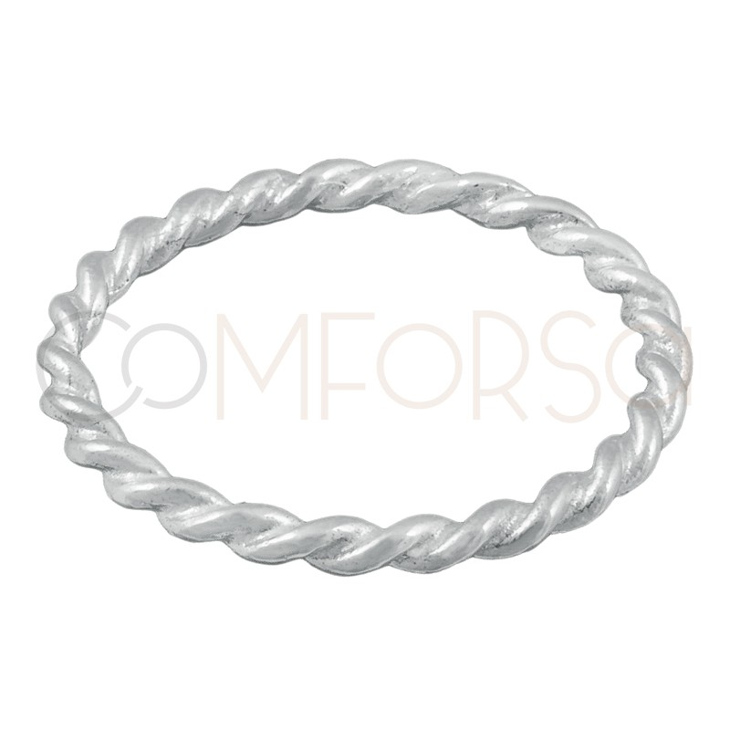 Sterling silver 925 braided ring