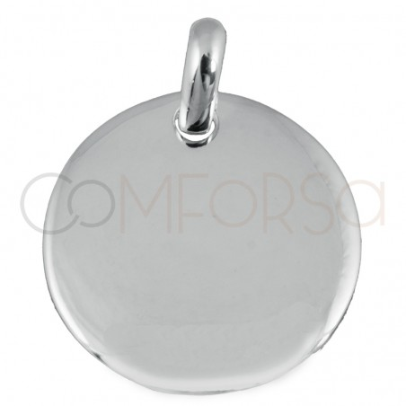 Engraving + Sterling silver 925 pendant with jumpring 19 mm