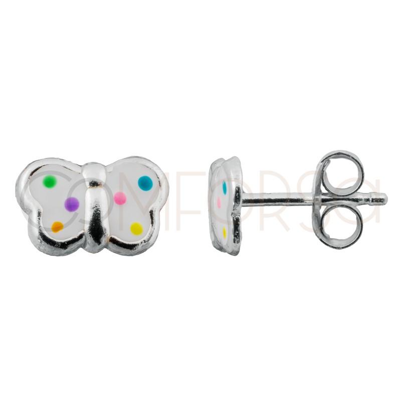 Sterlling silver 925 mini butterfly earring 8 x 5.5mm