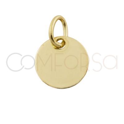 Medalla 11 mm con anilla (aleación)
