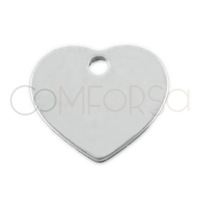 Sterling silver 925 gold-plated heart charm 10x8.5 mm