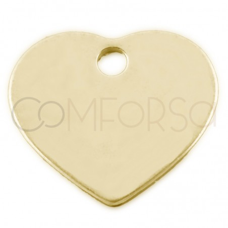 Sterling silver 925 engraving heart charm 7x6 mm