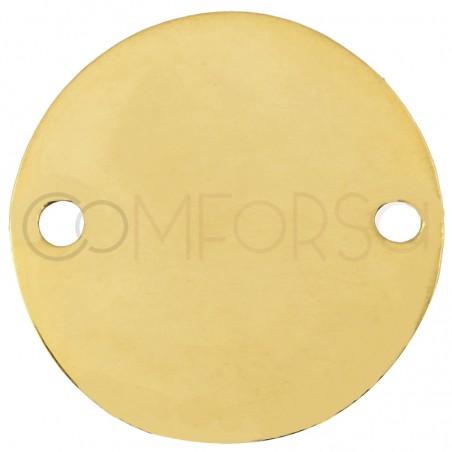 Medalla 20 mm con doble taladro (aleación)