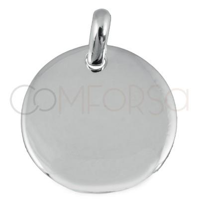 Grabación + Medalla 20 mm con anilla plata 925