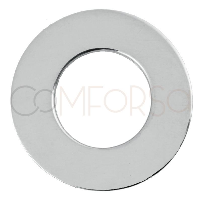 Grabación + Anilla plana 15 mm plata 925ml