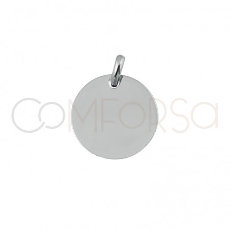 Engraving pendant 11 mm with jump ring Sterling silver rose gold plated