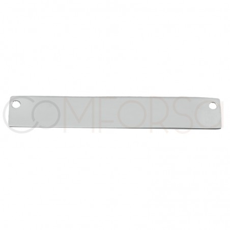Sterling Silver 925 Gold Plated Rectangular Tag 40x6.5mm