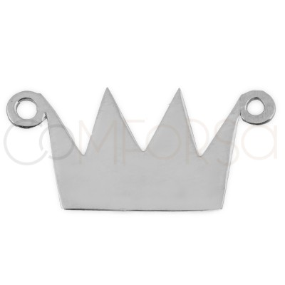Sterling silver 925 gold-plated crown pendant 16x9.5mm