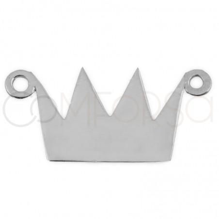 Chapa corona 16 X 9.5mm plata 925