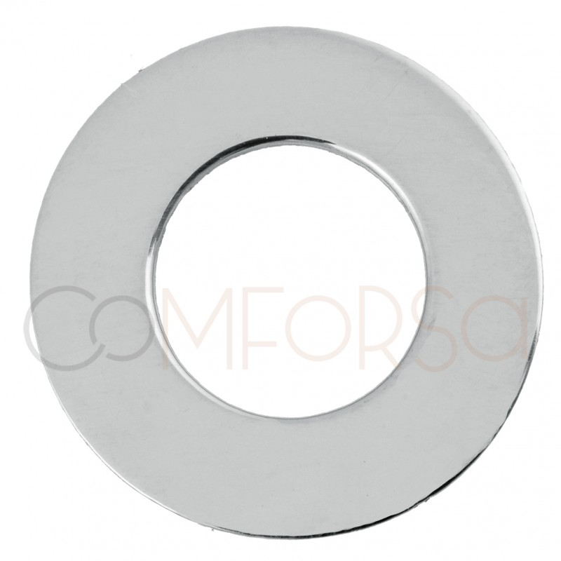 Engraving + Sterling Silver 925 Flat Ring 15mm