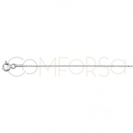 Sterling silver 925 curb long chain 1.9 x 0.9mm