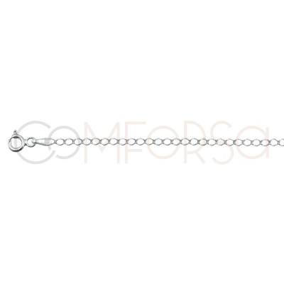 Sterling silver 925 curb long chain 3x2mm