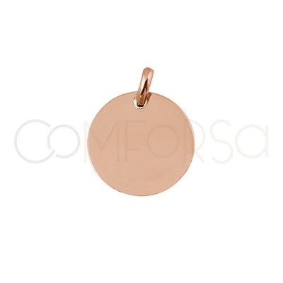 copy of Engraving pendant 11 mm with jump ring Sterling silver rose gold plated