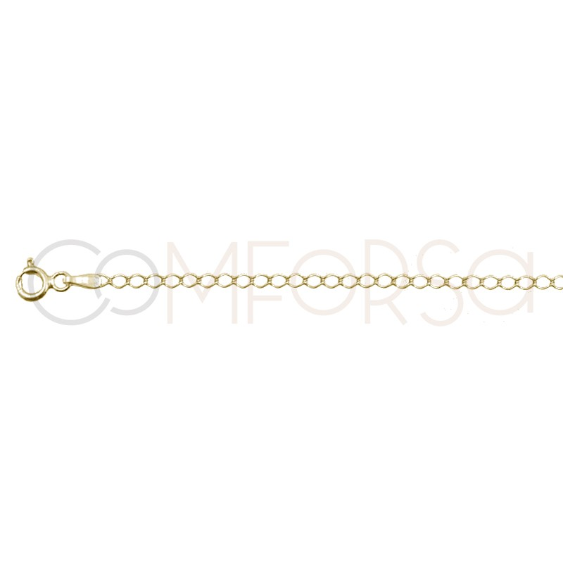 Gold plated silver rhombus chain