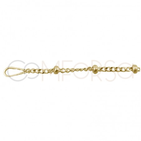 Gold plated Sterling silver 925ml ball chain 2 x 1.1 mm