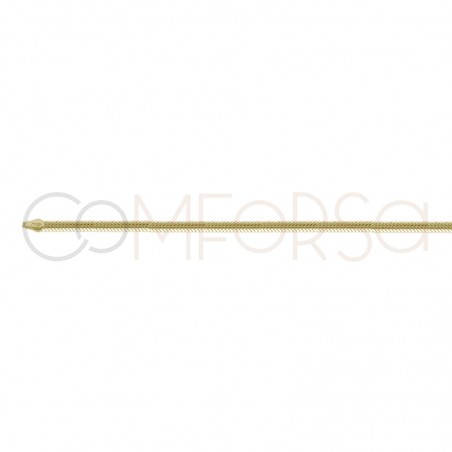 Gold plated sterling silver Snake choker 3mm