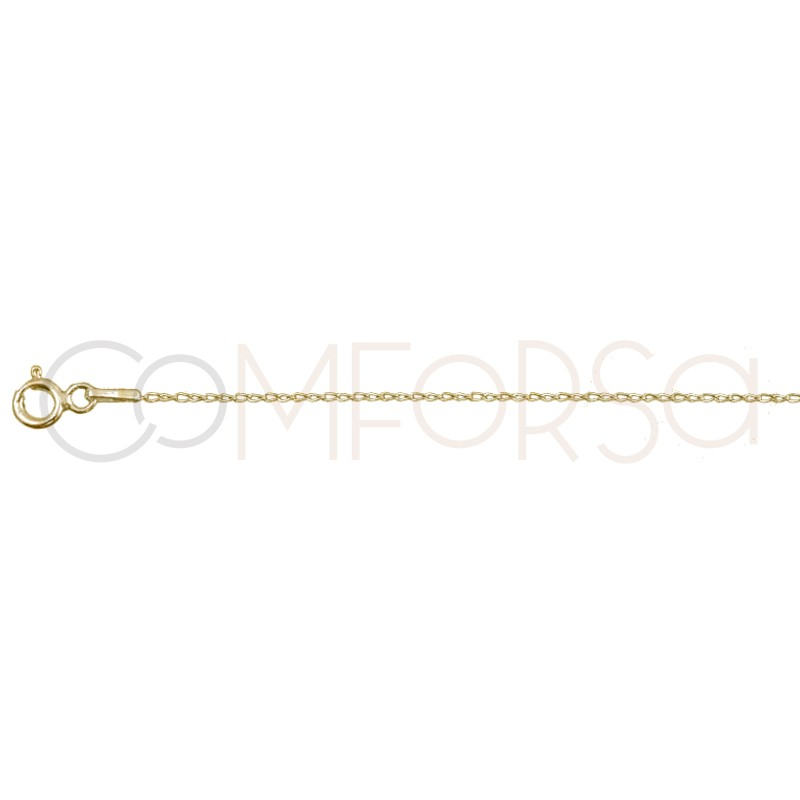 Gold plated silver bilbao chaine