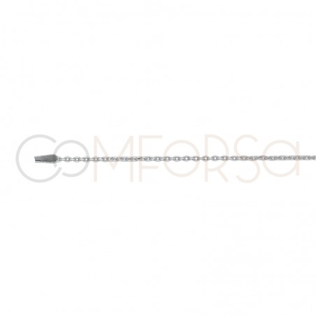 Sterling silver 925 Cable chain 1.5 x 1.1 mm