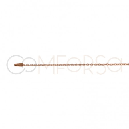 Rose gold plated Sterling silver 925ml forçat chain 40 cm