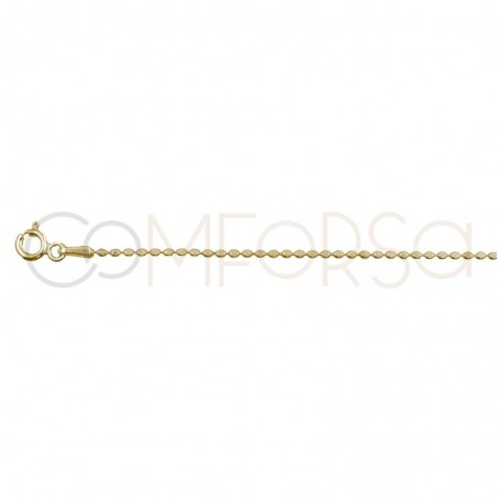 Sterling silver 925 flat ball chain 1mm