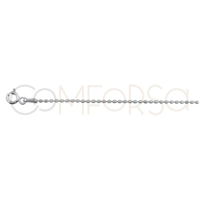 Gold plated silver flat ball chain