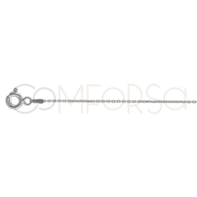 Sterling silver 925 forçat chain 1.5 x 1mm