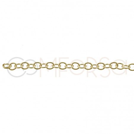 Sterling silver 925 gold-plated choker with multicolor zirconias 36 cm + 6cm