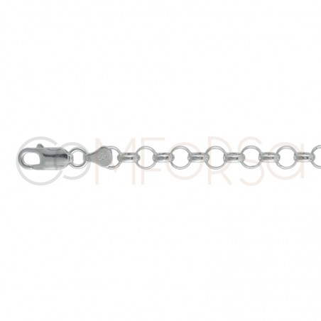 Sterling silver 925ml 6.6 mm rolo chain